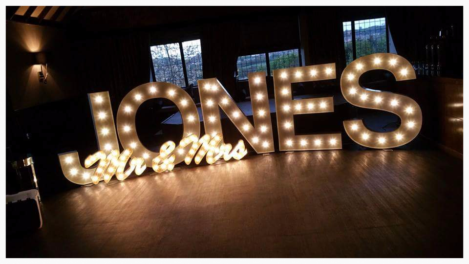 light up letters in the North East